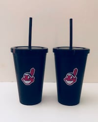 Indians hot and cold thermal cups with straws Cuyahoga Falls, 44221
