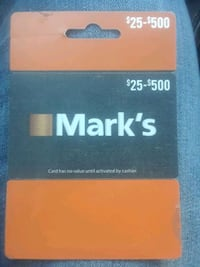 Mark's work wearhouse Gift Card Chatham-Kent