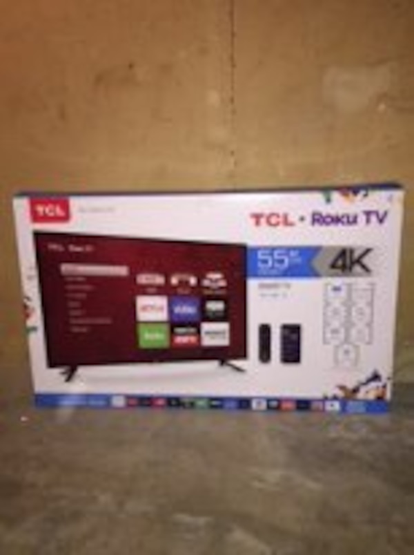 Used Tcl 55us57 55 4k Ultra Hd 2160p 120hz Roku Smart Led Hdtv For