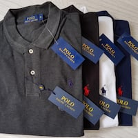 Black and gray polo by ralph lauren polo shirt London, SW11