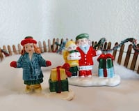 Kids w/Gifts. Two Figurines, Snow Village Santa Ana, 92705