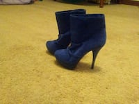 pair of blue suede stiletto booties Front Royal, 22630