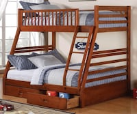 brown wooden bunk bed frame/ with a mattress included Woodbury, 08096