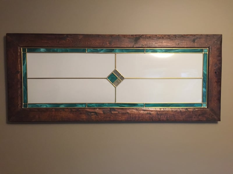 Wooden Framed Rustic Wall Hanger Accent Decor 4