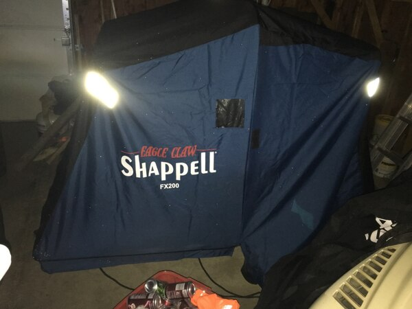 Shappell fx200 ice shanty used twice