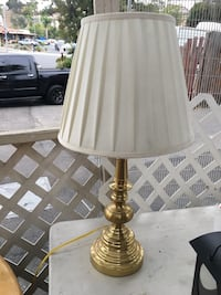 Brass-colored table lamp Vista, 92084