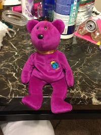 pink and purple bear plush toy Seven Corners, 22044