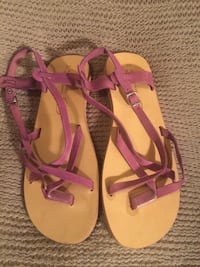 Leather Sandals Size 8