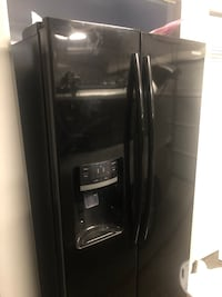 black side by side refrigerator with dispenser North Attleboro, 02760