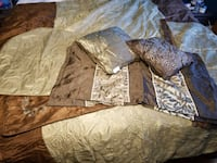 KING Comforter Reversible - Olive and Brown Springfield, 22153