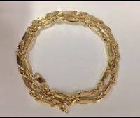 """Silver gold plated Milano Rope  chain, 5mm, 22"""" Honolulu, 96822"""