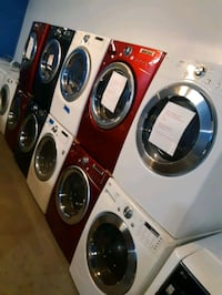 $450.00 & UP FRONT LOAD WASHER AND DRYER SET WORKING PERFECTLY