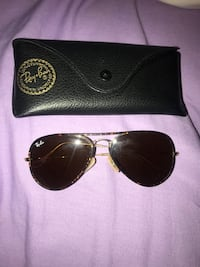brass-colored frame Ray-Ban sunglasses with pouch Corpus Christi, 78404