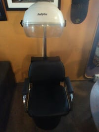 BaByliss professional standing hood dryer with custom leather seat