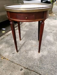 Vintage French Directoire Marble Top Round New York