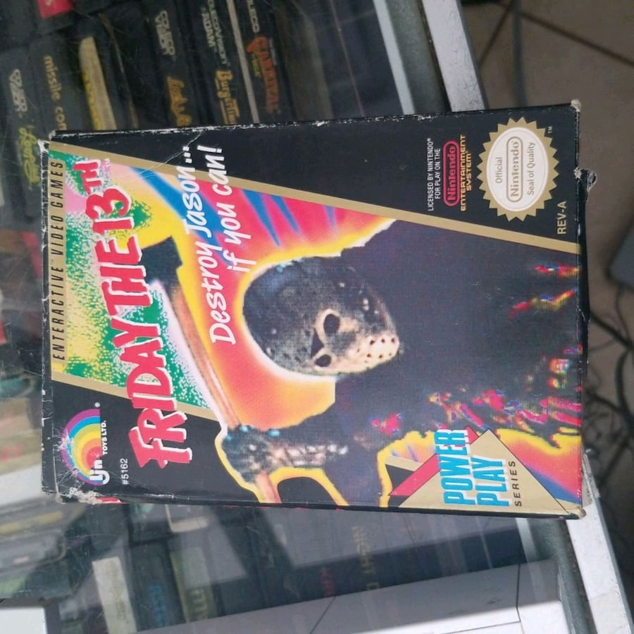 Friday the 13th complete in Box vintage nintendo