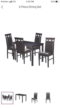 5 piece used dining set + extra open box table Rockville