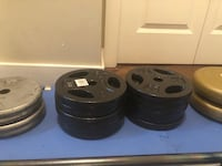 "10lb 50lb weights 1"" plates - workout home gym 10 is $24 / 50lb $125ea"