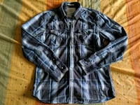 American eagle pearl button plaid button up shirt Toronto, M1C