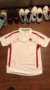 white and red Adidas jersey shirt Louisville, 40245