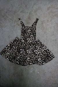 black and white leopard print sleeveless dress Burnaby