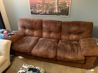 brown suede 3-seat sofa Normandy Park, 98166