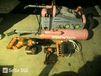 orange and black Ridgid cordless drill