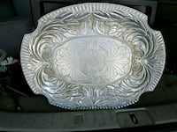 Pewter serving tray from the Wilton Co