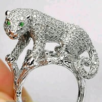 silver leopard ring size 9 brand new Oklahoma City, 73108