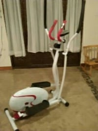white and black elliptical trainer
