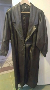 Ladies leather long fall coat Mississauga