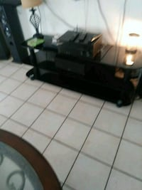 black and gray TV stand Bakersfield, 93306
