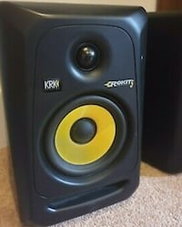 KRK Rokit G5 producing monitors. Comes with cables and stands