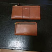 fossil leather wallets