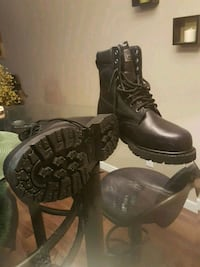 pair of black leather boots Calgary, T3J 1K5