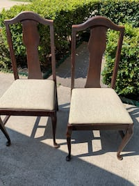 Vintage sturdy Ethan Allen side dining chairs 4