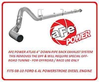 FORD, aFe Power ATLAS Down-Pipe Back Exhaust System Part # 49-03004NM null