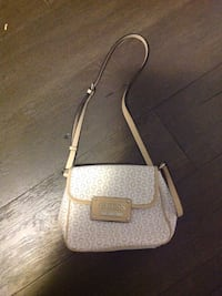 White and beige guess bag
