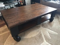 Wood/Iron Coffee Table