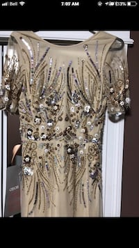 Brand new with tags nude dress wig gold beads and sequins Calgary, T2A 2A2