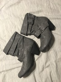 Pair of grey leather boots Mulmur, L9V 0S7