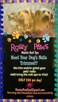 Rosey Paws mobile nail spa advertisement