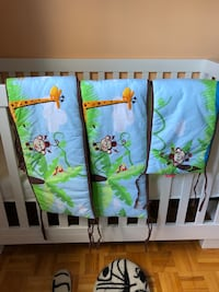 Crib Bumper Fischer Price Rainforest