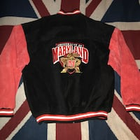 UMD varsity jacket leather coat university Maryland black red terrapin Gaithersburg, 20878