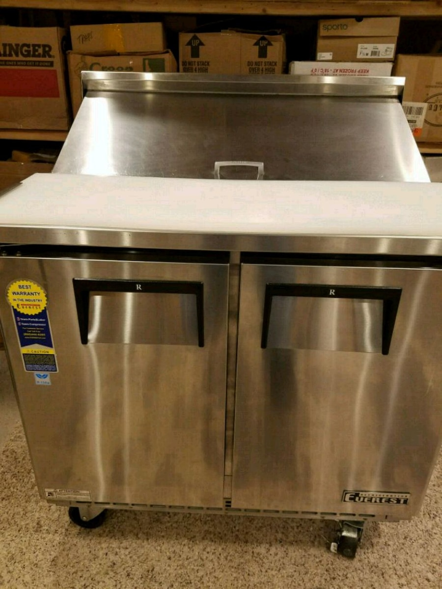 used everest epbnsr2 sandwich prep table two section for sale in rh gb letgo com