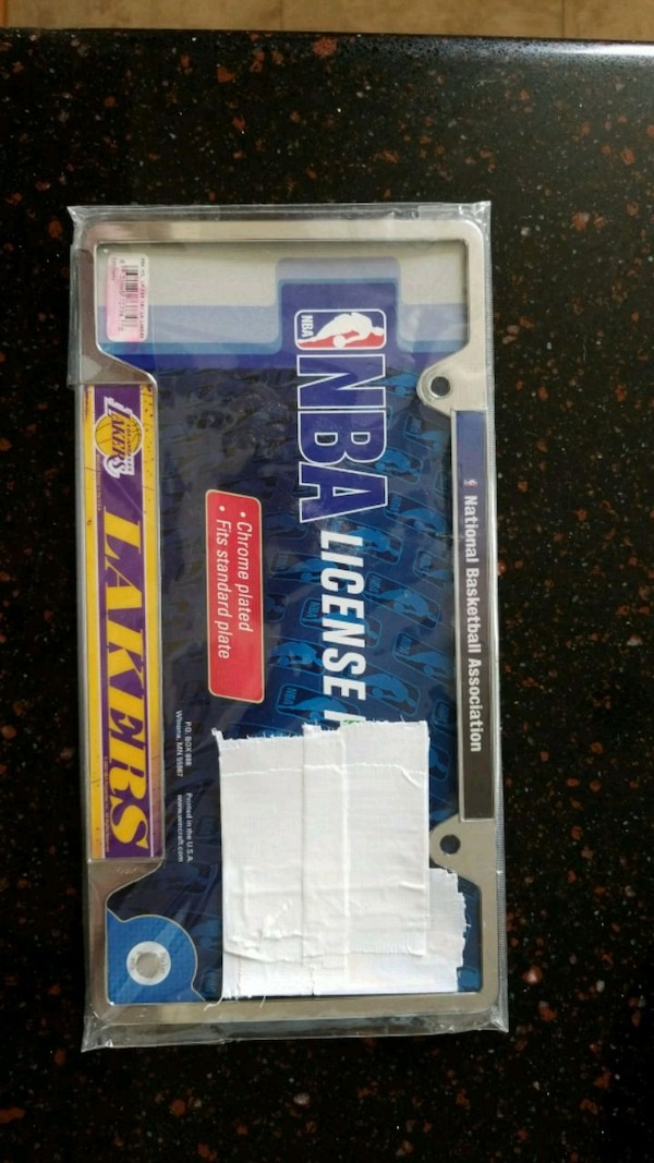 Lakers license plate