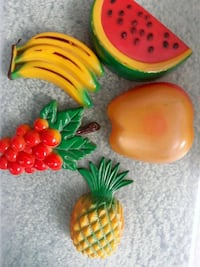 Old plastic refrigerator  magnet decorations