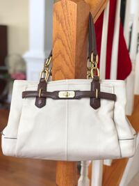 Coach Jayden Carryall 18955 Cream and Brown Leesburg, 20175