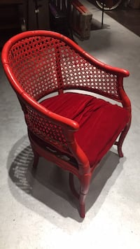 Red wicker backed chair Costa Mesa, 92626