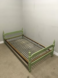 green and white metal bed frame Abbotsford, V2T 2H3